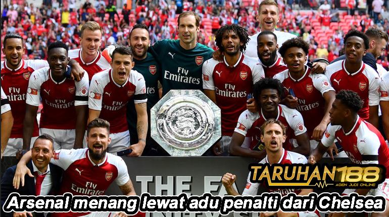 Arsenal menang lewat adu penalti dari Chelsea