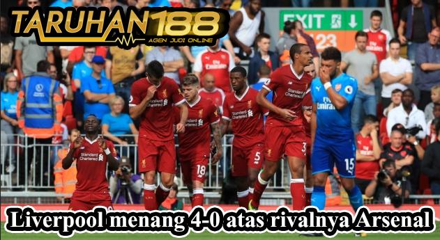 Liverpool menang 4-0 atas rivalnya Arsenal