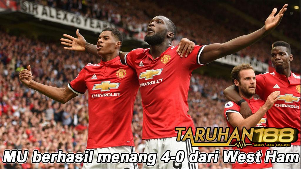 MU berhasil menang 4-0 dari West Ham