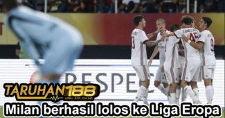 Milan berhasil lolos ke Liga Eropa
