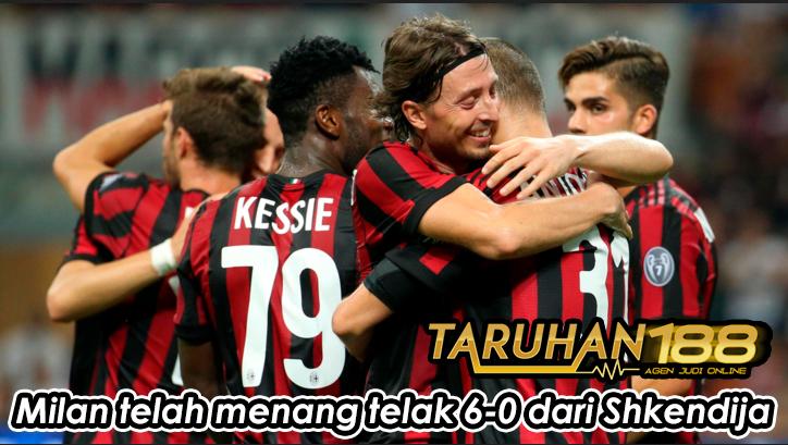 Milan telah menang telak 6-0 dari Shkendija