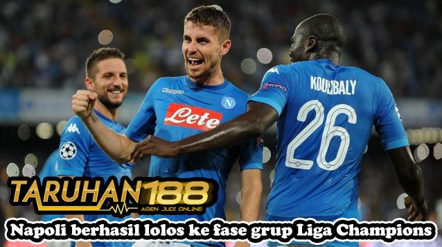 Napoli berhasil lolos ke fase grup Liga Champions
