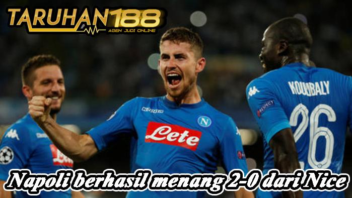 Napoli berhasil menang 2-0 dari Nice