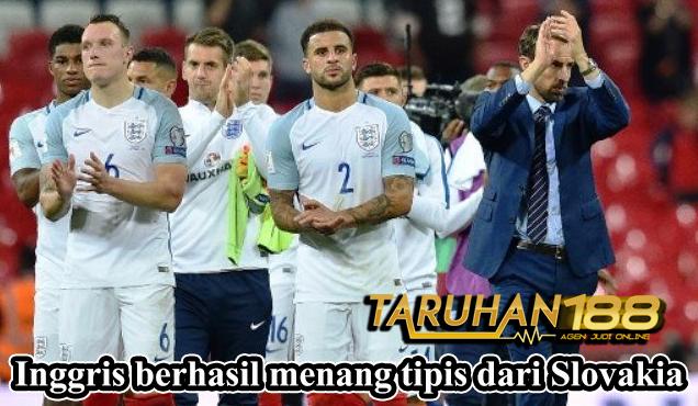 Inggris berhasil menang tipis dari Slovakia