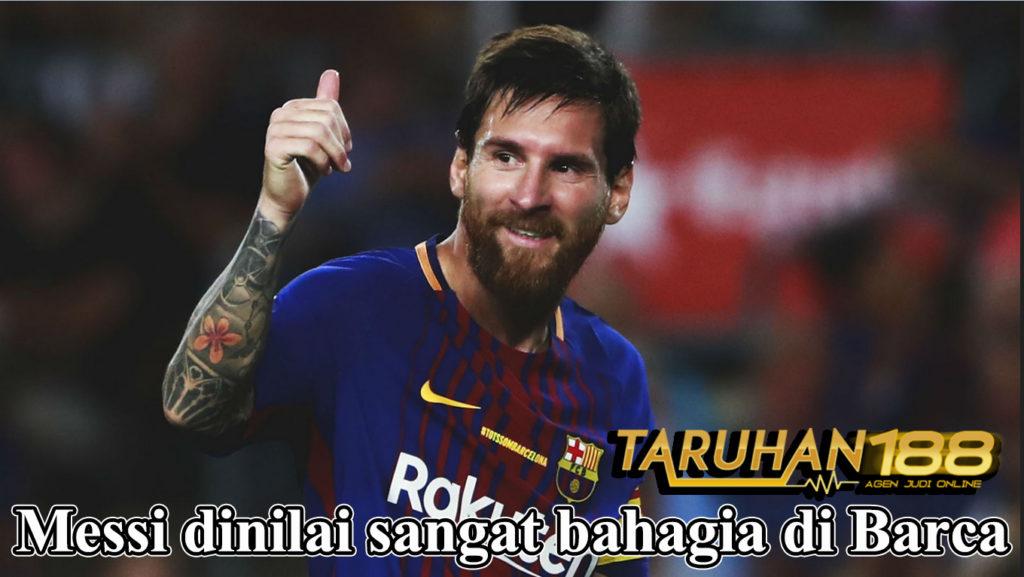 Messi dinilai sangat bahagia di Barca