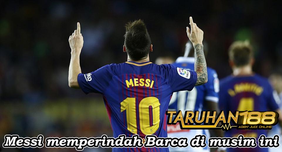 Messi memperindah Barca di musim ini