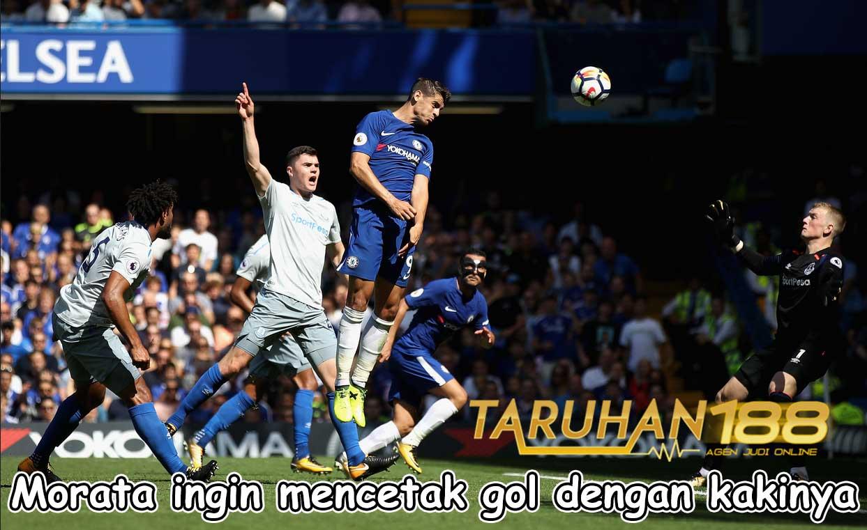 Morata ingin mencetak gol dengan kakinya