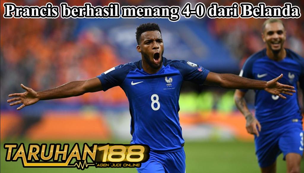 Prancis berhasil menang 4-0 dari Belanda