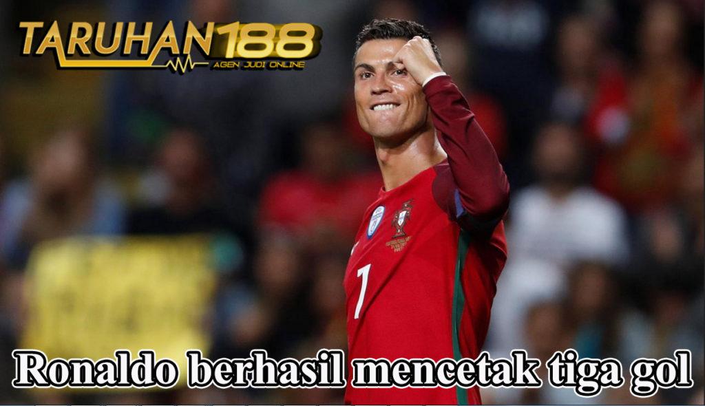 Ronaldo berhasil mencetak tiga gol