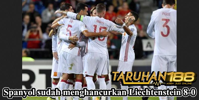 Spanyol sudah menghancurkan Liechtenstein 8-0